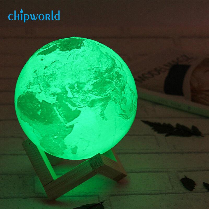 Interpet Blue Moon Moonlight T5 T8 Fish Tank Light: 3D Moon Lamp USB LED Night Light Moonlight Xmas Gift Touch