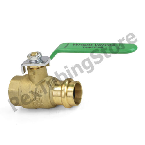 "Full Port 250 WOG 3//4/"" Copper Press x 3//4/"" FPT Lead-Free Brass Ball Valves 10"