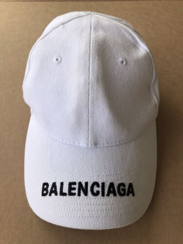 Balenciaga white baseball L hat real and genuine B