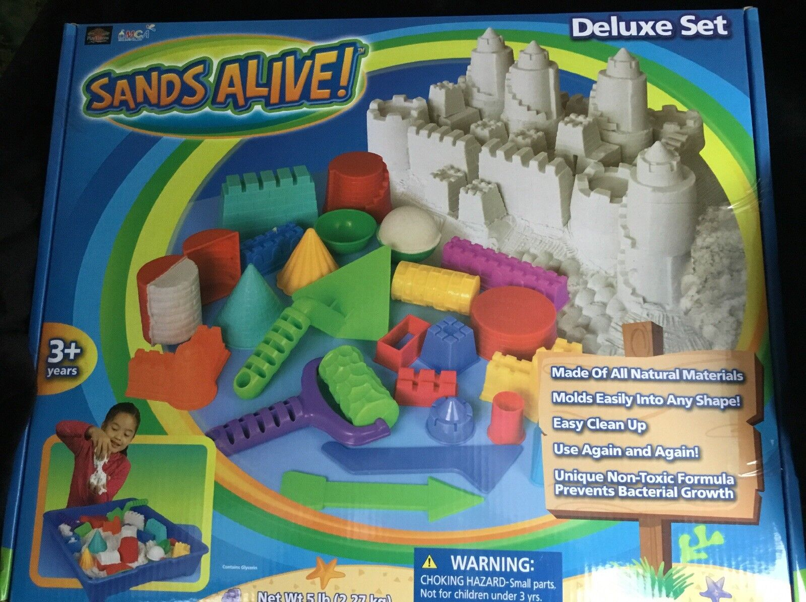 Kinetic Sands Alive-Deluxe Set (5lbs of Sands Alive) HTF- Enorm Fantastisk Set-New