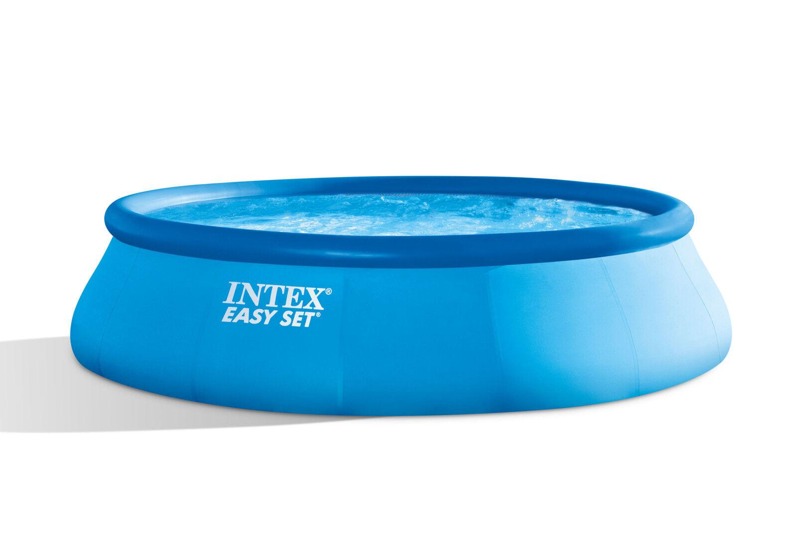 INTEX EASY SET POOLS ® Ø 396 x 84 cm 28142gn. resi merce SCATOLA DANNEGGIATA