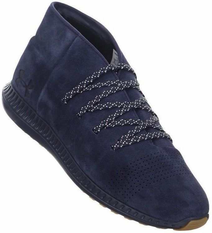 NEW Uomo UA UNDER ARMOUR VELOCE VELOCE ARMOUR MID sz 8 NAVY BLUE UA casual suede shoes abe9f4