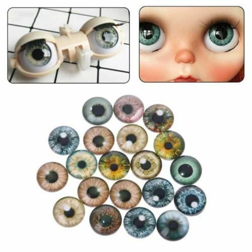 Lots 20Pcs Glass Doll Eyes Animal DIY Crafts Eyeballs Jewelry Handmade 8//12//18mm