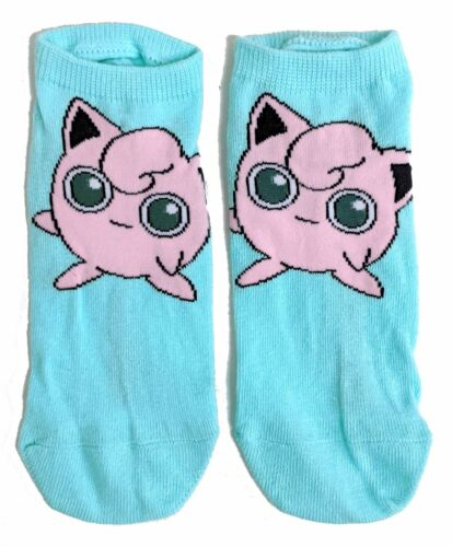 Damen Pink Jigglypuff Pokemon Shoe Liners Socken 37-42