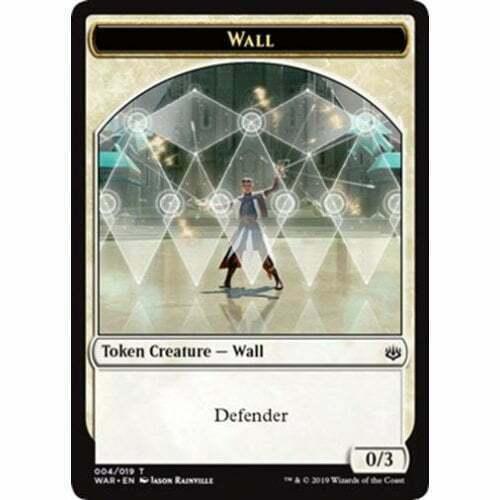 Wall Token  Guerre des Planeswalkers FR  NM MTG Magic 4X jetons Mur