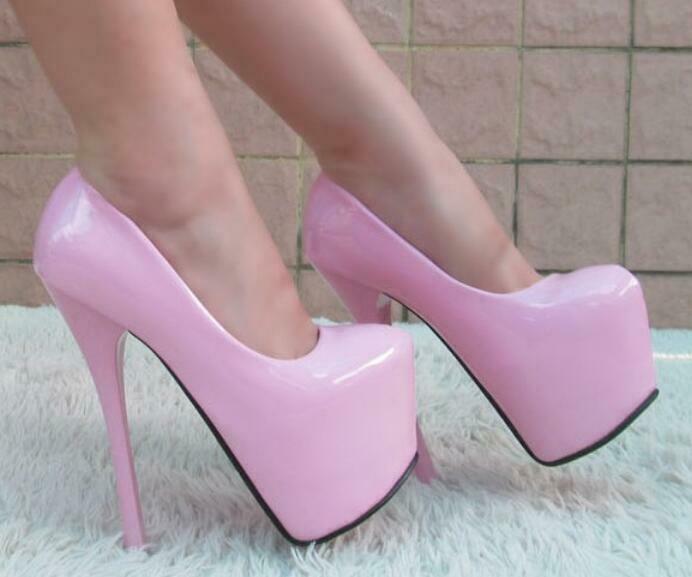 marche online vendita a basso costo Hot donna Sexy Platform Super High Stilettos Stilettos Stilettos Heels Patent Leather Bridal scarpe  outlet