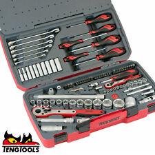 """Teng Tools 1/4"""" 1/2"""" Drive Sockets Ratchets Extensions Tool Set"""