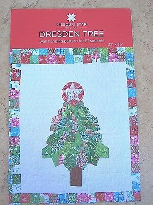 "Christmas Tree Skirt Quilt Pattern for 5/"" Squares New by Missouri Star Quilt Co"