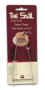 Sugar tongs Grunwerg stainless steel tea coffee cubes the stal NEW FREE P&P