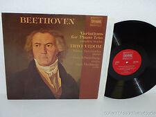 TRIO VIDOM Beethoven Variations Piano LP Pavane ADW 7049 SWISS Derevianko NM