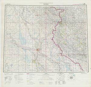 Russian Soviet Military Topographic Maps Sheet Baghdad Iraq Ed