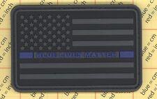 PVC USA FLAG PATCH BLUE LIVES MATTER LINE Vest SWAT POLICE THIN BLACK Law