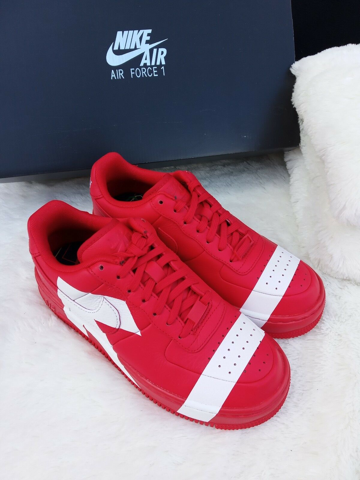 5.5 Donna    w Nike Air Force 1 Upstep arrows Uptown 898421-601 rosso bianca casual 821643