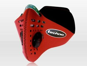 Respro-Techno-Anti-Pollution-Motorcycle-Cycle-Face-Mask-Red