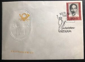 1970-Berlin-East-Germany-DDR-First-Day-Cover-FDC-Ho-Chi-Minh-Vietnam-Solidarity