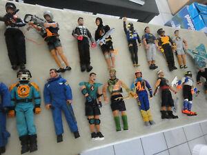 ACTION MAN HASBRO Lot 18 figurine semi vintage RARE accessoire / vélo
