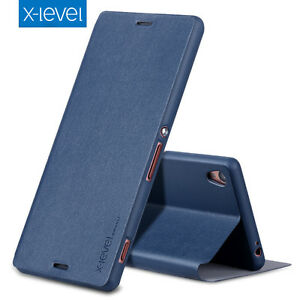 buy popular 9eee9 d124b Details about X-Level For Sony Xperia XA1 /Ultra/XZs Slim Full Cover Flip  Leather Wallet Case