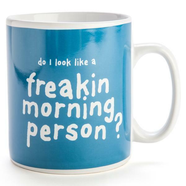 """Do I look Like A Freakin Morning Person?"" Giant Mug"