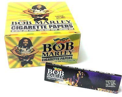 50 Bob Marley Taille Extra Large Pur Chanvre Papier à Rouler Boîte