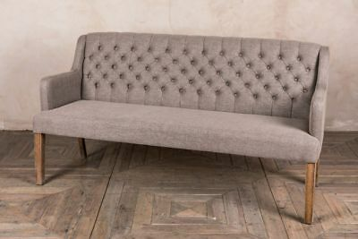 Upholstered Dining Bench Stone