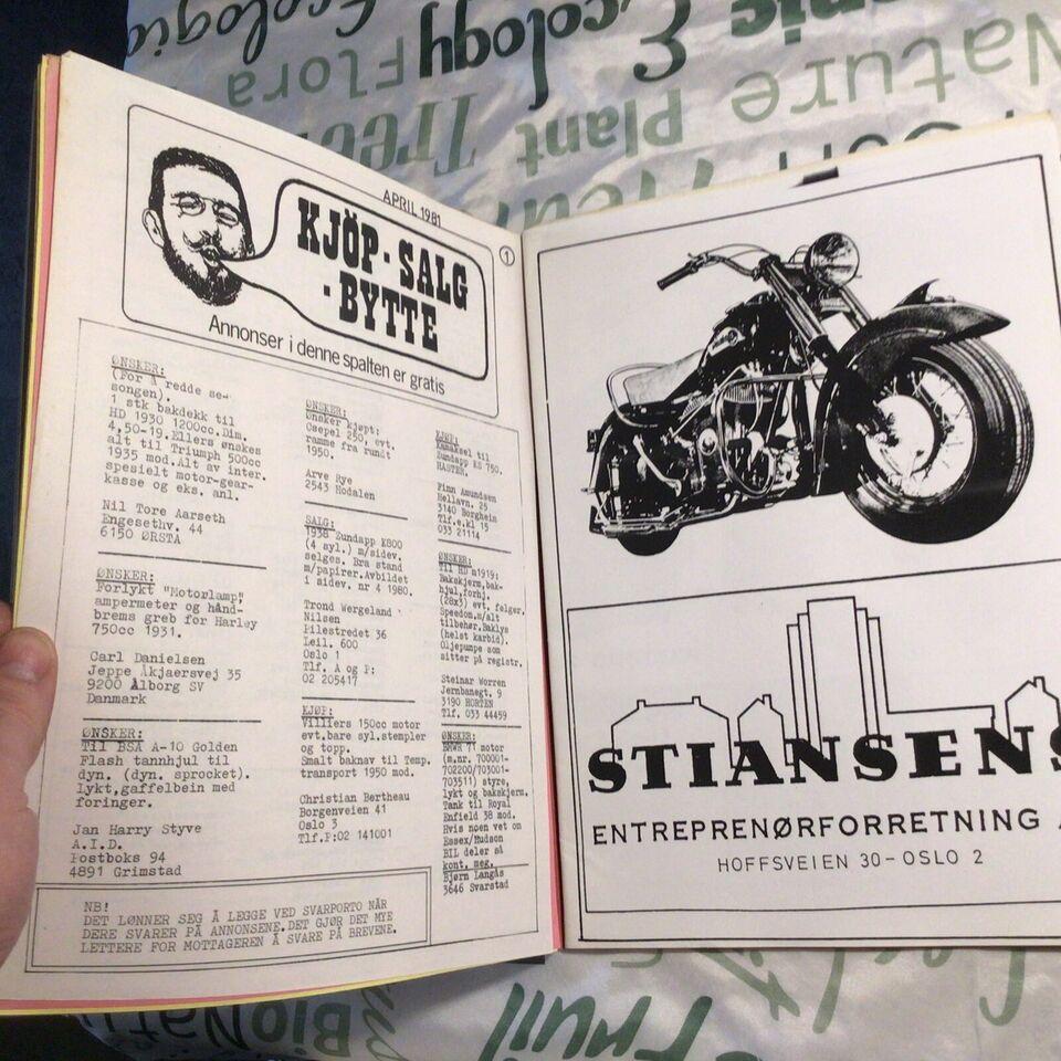 Tidsskrift/klubblad., Indian motorcykel