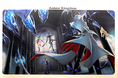 Custom Neoprene Gaming Mat Colorful Cartoon Dark Magician Yu-Gi-Oh Playmat