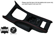 RED STITCH CONSOLE GEAR SURROUND LEATHER COVER FITS NISSAN 300ZX Z32 90-96
