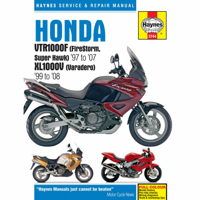 haynes 3744 honda vtr1000 firestorm xl1000v manual ebay rh ebay co uk honda vtr 1000 firestorm repair manual Honda VTR1000 Superhawk