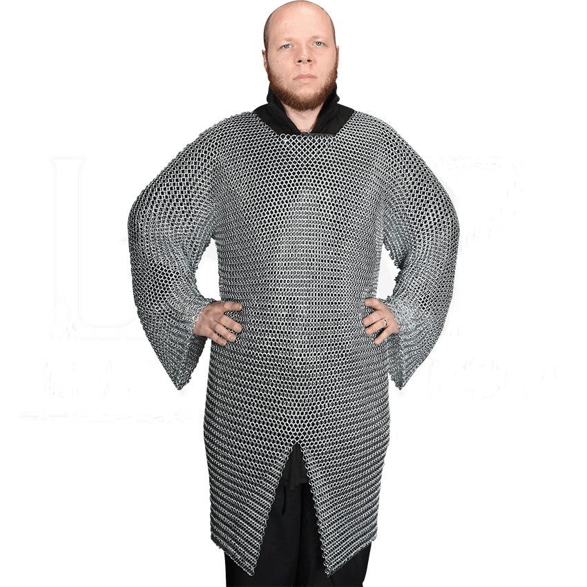 Medieval Crusader Knight Butted Chainmail Hauberk Costumes For Larp Reenactment