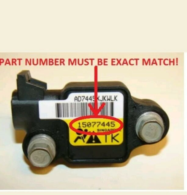 02-09 Envoy Trailblazer Rainier front impact airbag sensor with plug 15077445