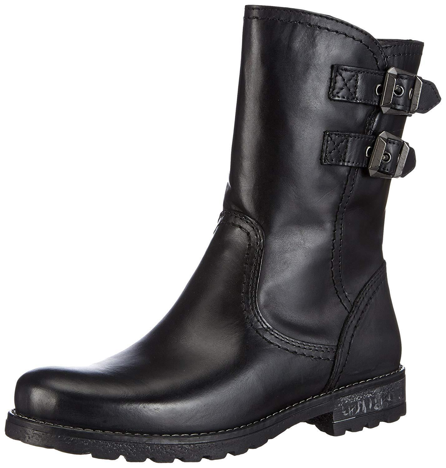 Tamaris 25436 Black Leather Everyday Winter Ankle Boots, NARROW FIT Size UK8