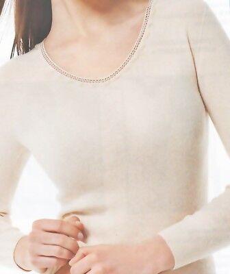 Angora Damen Unterwäsche 40/% Angora Unterhemd Wärmewäsche Kurzarm