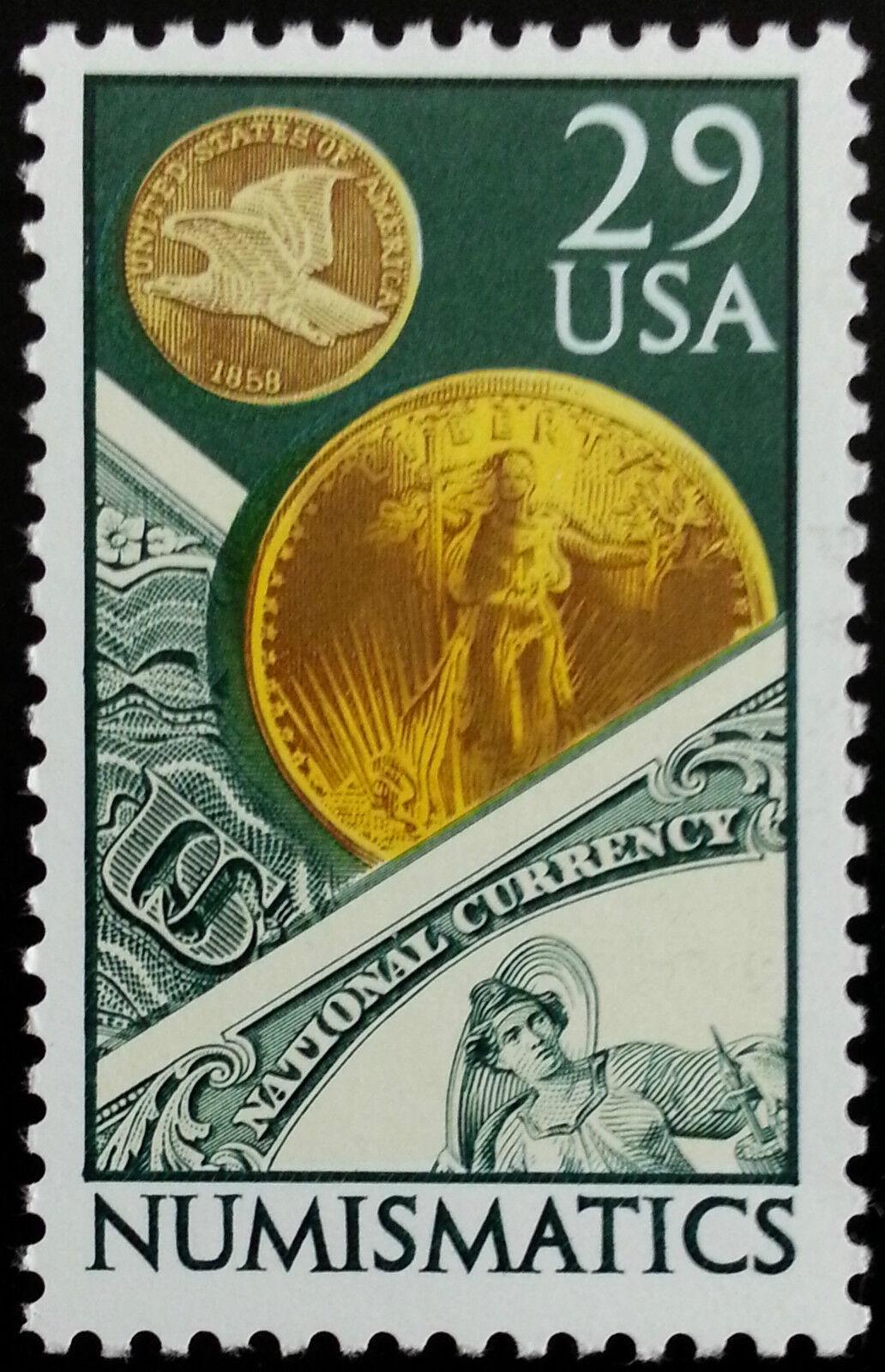 1991 29c Numismatics, Coins & Currency Scott 2558 Mint