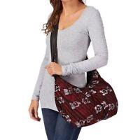 Vans Red Della Medium Fashion Soft Cotton Sholder Bag Womens School Handbag