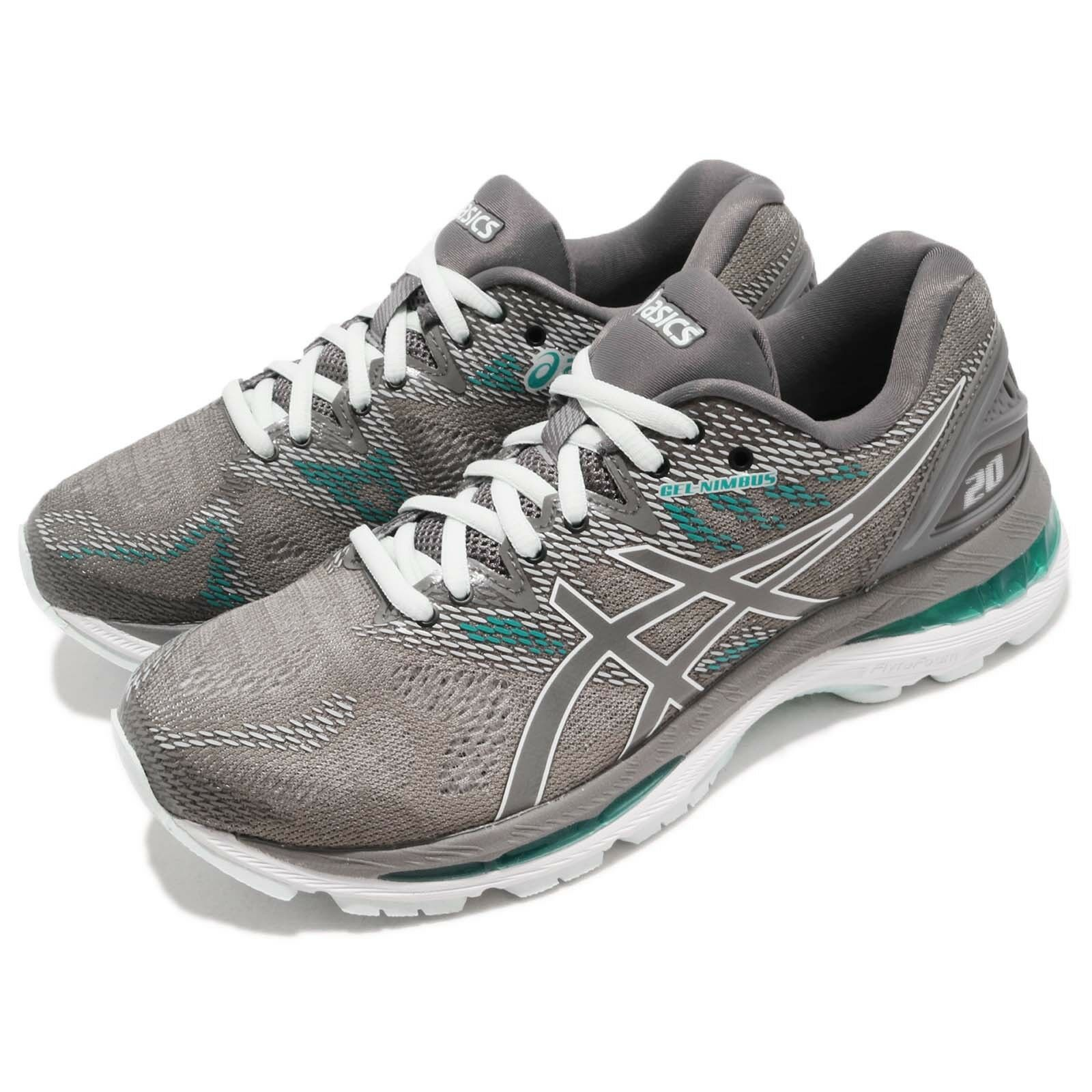 Asics Gel-Nimbus 20 D Wide Carbon Grey Green Womens Running shoes T851N-020