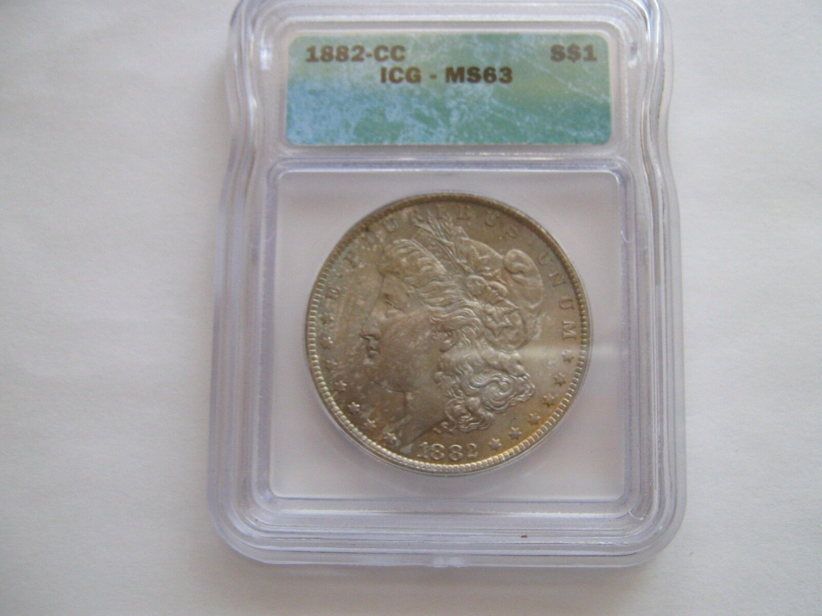 1882-CC , Morgan Dollar , MS 63 , ICG Certified