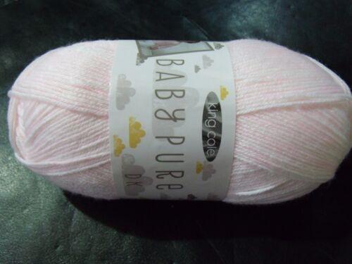 King Cole Baby Pure Double Knitting Yarn Shade 2732 Sugar Pink