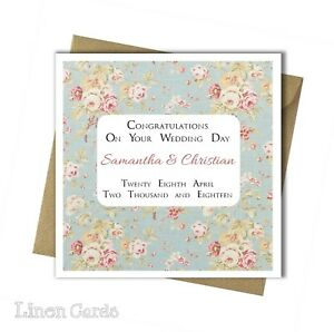 Personalised Special Wedding Day Card Congratulations Son Daughter
