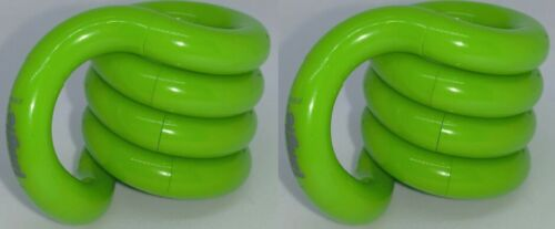 Pack of 2 Tangle Jr Classic Green Fidget Item ADHD Toy Stress Reliever