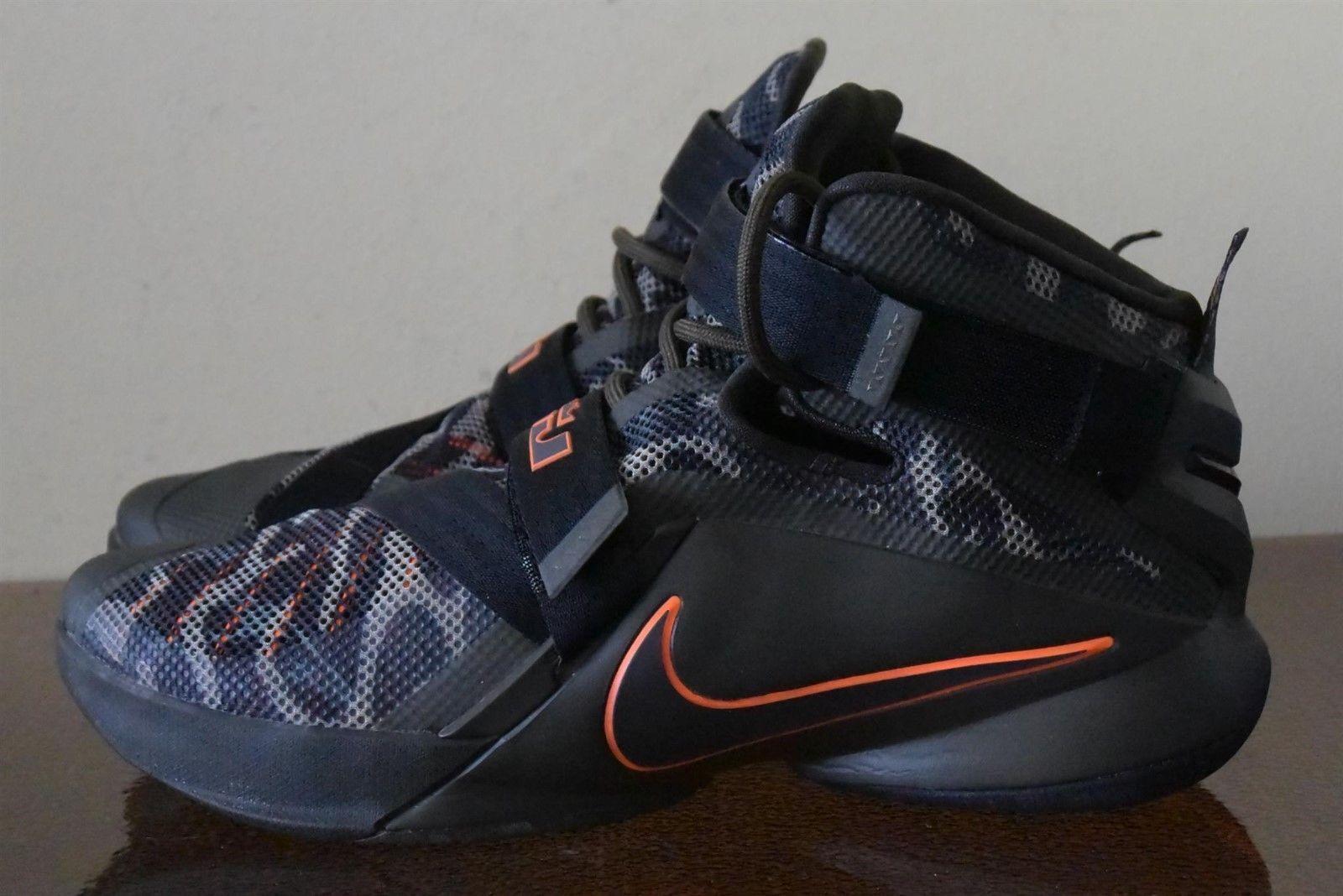 Nike LeBron Zoom Soldier IX 9 Black Camo Dunkman 749490-303 Sz. 10