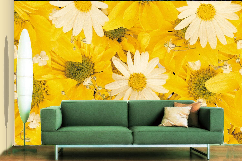 3D Gelb Weiß Gänseblümchen 85 Tapete Wandgemälde Tapete Tapeten Bild Familie DE   Wirtschaft    Kaufen Sie online    Zuverlässige Qualität