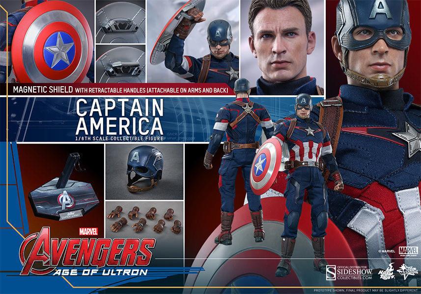heta leksaker MMS281  6 Avengers 2 Age of Ultron Captain America MISSB NY bäst Deal