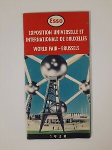 EXPO 1968 Esso MAP brochure BRUSSELS world FAIR vintage