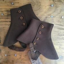 True Vintage Antique 1920s/30s Sears USA Brown Wool Buttoned Spats Shoe Covers