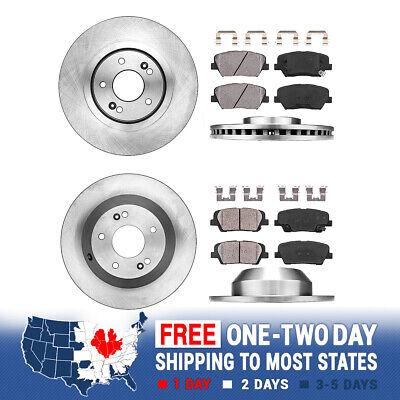 For 2015-2018 Kia Sorento Rear eLine Drill Slot Brake Rotors+Ceramic Brake Pads