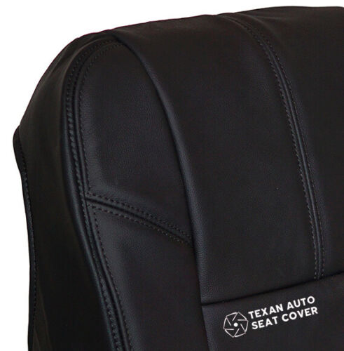 2011 Chevy Silverado 1500 2500HD 3500HD LTZ Driver Bottom Vinyl Seat Cover Black