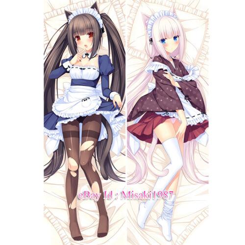 Nekopara Dakimakura Vanilla Chocola Anime Girl Hugging Body Pillow Case Cover