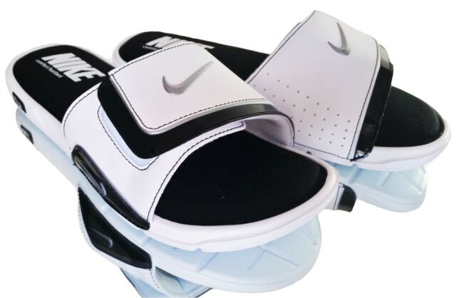 de4873489e8c6a New Nike Comfort Slide 2 Men s Slide Sandals White Black Solid 415205 100