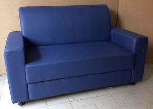 Divano In Pelle Blu.Dettagli Su Divano 2 Posti Da Ufficio Finta Pelle Blu Realizzabile Tutti Colori