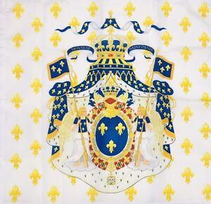 Drapeau-Royaume-De-France-Grandes-Armes-Pavillon-Royaliste-Royal-French-Flag-Roi